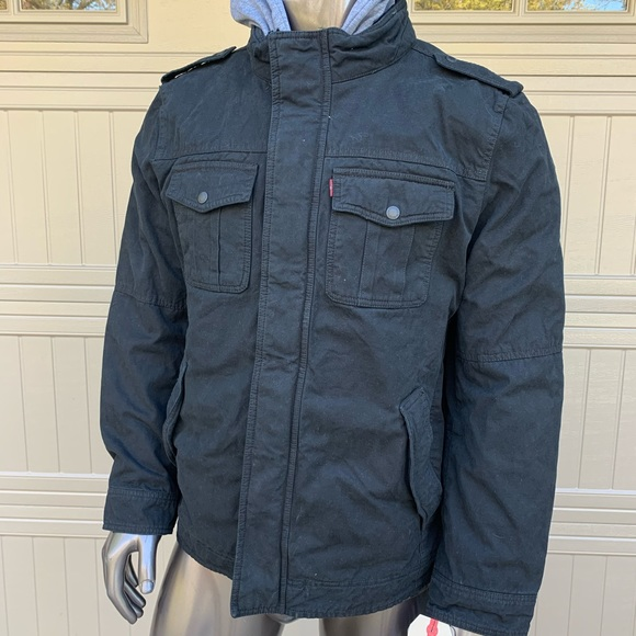 NWT Levi's Sherpa Fleece Hooded Jacket
